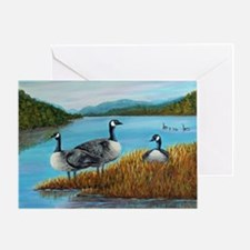 Canada Geese at Lake Lure Greeting Card