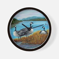 Canada Geese at Lake Lure Wall Clock