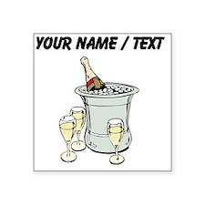 Custom Champagne On Ice Sticker