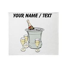 Custom Champagne On Ice Throw Blanket