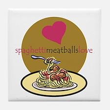 spaghetti.meatballs Tile Coaster