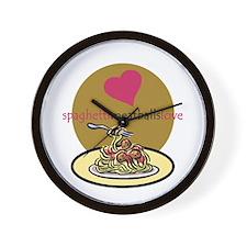 spaghetti.meatballs Wall Clock