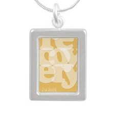 Orange Recovery Silver Portrait Necklace
