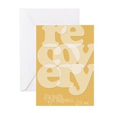 Orange Recovery Greeting Card