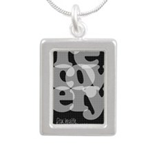 Black Recovery Silver Portrait Necklace