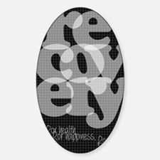Black Recovery Sticker (Oval)