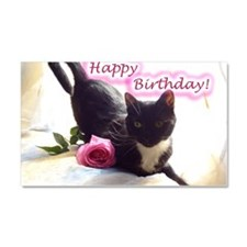 Happy Birthday Kitty Car Magnet 20 x 12