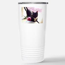 Happy Birthday Kitty Travel Mug