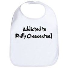 Addicted to Philly Cheesestea Bib