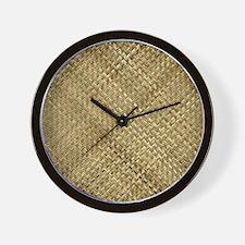 Basketweave Texture Plaid Weave Wall Clock