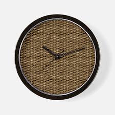 Basketweave Texture Over and Under Weav Wall Clock
