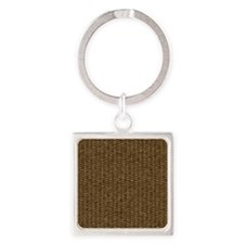 Basketweave Texture Over and Under Square Keychain
