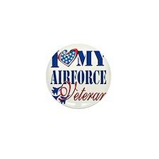 I Love My Airforce Veteran Mini Button