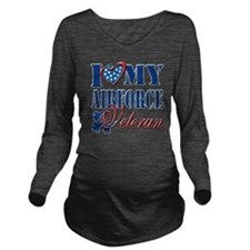 I Love My Airforce V Long Sleeve Maternity T-Shirt