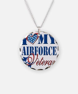I Love My Airforce Veteran Necklace