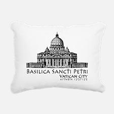 Basilica Sancti Petri Rectangular Canvas Pillow