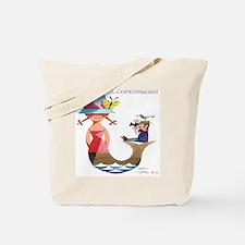 Vintage Copenhagen Mermaid Bird Poster Tote Bag