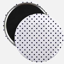 Navy Blue Polka Dot D1b Magnet