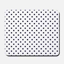 Navy Blue Polka Dot D1b Mousepad