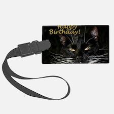 Stern Birthday Kitty Luggage Tag