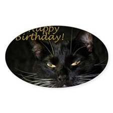 Stern Birthday Kitty Decal