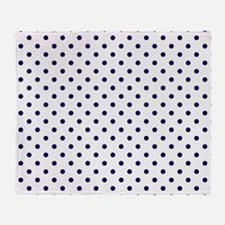 Navy Blue Polka Dot D1b Throw Blanket