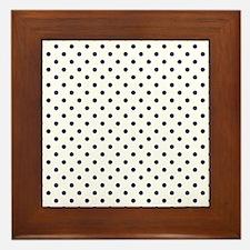 Navy Blue Polka Dot D1b Framed Tile