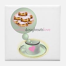 coffee.doughnuts Tile Coaster