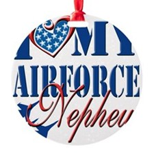 I Love My Airforce Nephew Ornament