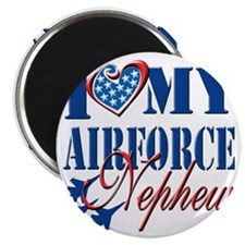 I Love My Airforce Nephew Magnet