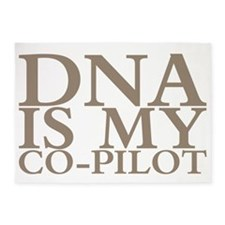 DNA is my co-pilot 5'x7'Area Rug