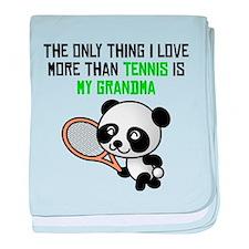 Tennis Grandma baby blanket