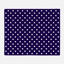 Navy Blue Polka Dot D1 Throw Blanket