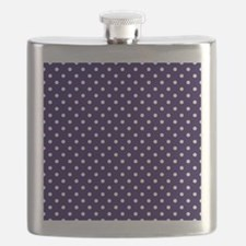 Navy Blue Polka Dot D1 Flask