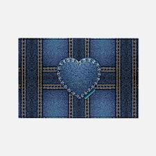 denim heart weave Rectangle Magnet