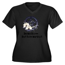 Do no harm Women's Plus Size Dark V-Neck T-Shirt