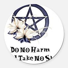 Do no harm Round Car Magnet