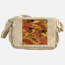 Rust and Gold Marbled Rainbow Swirl Messenger Bag