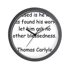 Blessed Work Wall Clock