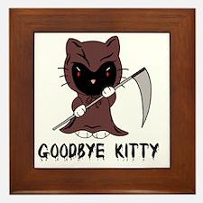 Goodbye Kitty Framed Tile