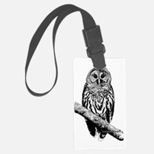 Mrs Barred Owl Luggage Tag