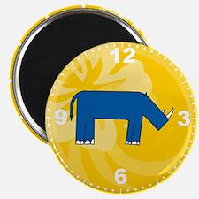 Rhino Clock Magnet