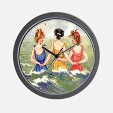 Vintage Victorian Women Seashore Wall Clock