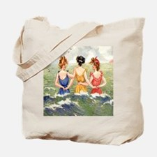 Vintage Victorian Women Seashore Tote Bag