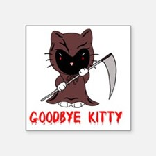 "Goodbye Kitty Square Sticker 3"" x 3"""