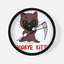 Goodbye Kitty Wall Clock
