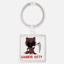 Goodbye Kitty Square Keychain
