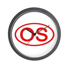 OS Oval (Red) Wall Clock