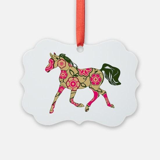 Floral Horse Ornament