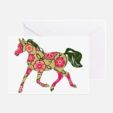 Floral Horse Greeting Card
